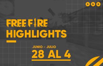 Free Fire | Highlights – 28 de Junio al 04 de Julio.